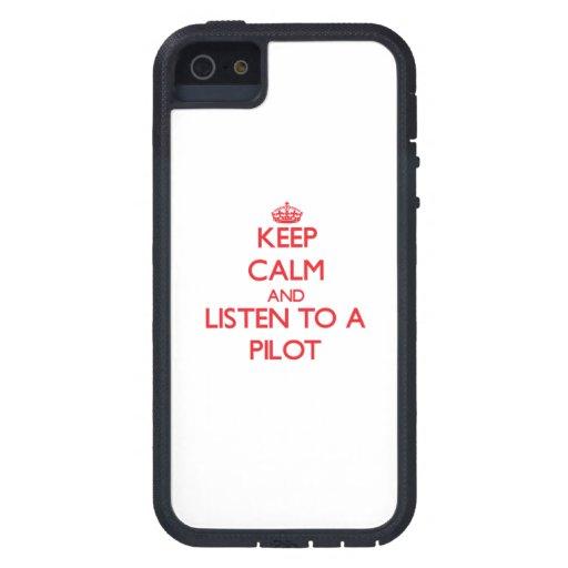 Guarde la calma y escuche a iPhone 5 Case-Mate carcasa