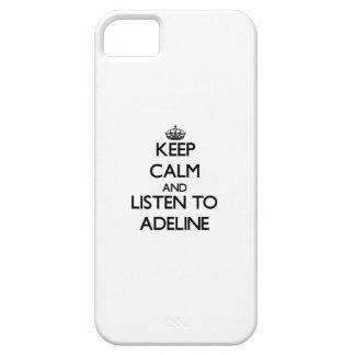 Guarde la calma y escuche Adelina iPhone 5 Carcasa