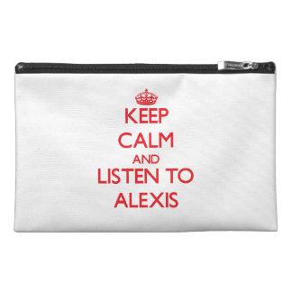 Guarde la calma y escuche Alexis