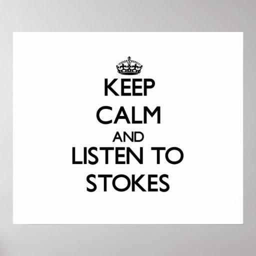 Guarde la calma y escuche alimenta impresiones