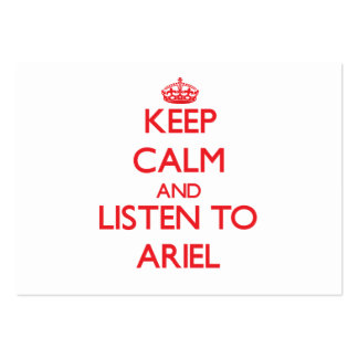 Guarde la calma y escuche Ariel Tarjeta De Visita
