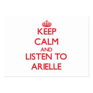 Guarde la calma y escuche Arielle Tarjetas De Visita
