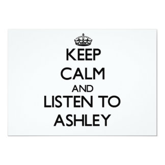 Guarde la calma y escuche Ashley Anuncio