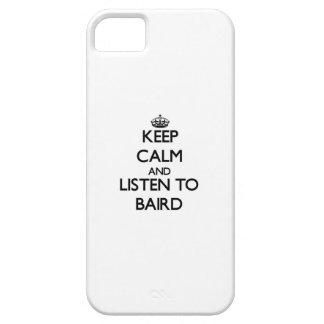 Guarde la calma y escuche Baird iPhone 5 Protector