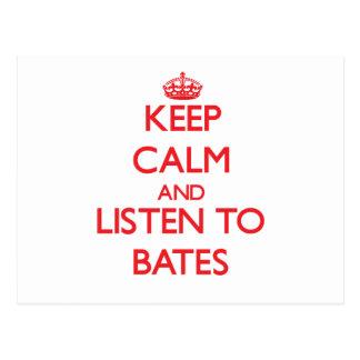 Guarde la calma y escuche Bates