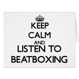 Guarde la calma y escuche BEATBOXING Tarjetón