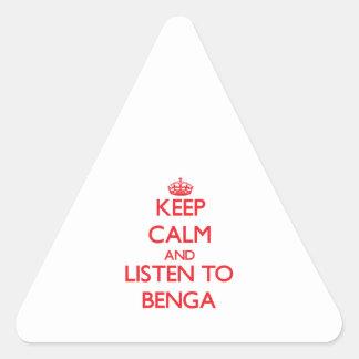 Guarde la calma y escuche BENGA