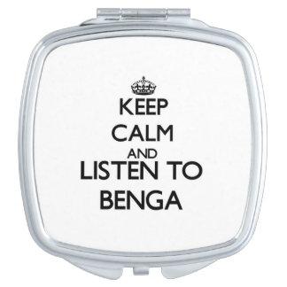 Guarde la calma y escuche BENGA Espejos Compactos