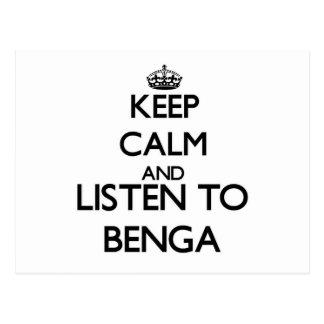 Guarde la calma y escuche BENGA Postal