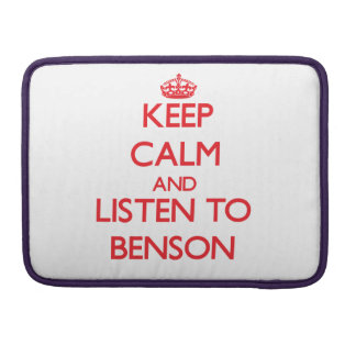 Guarde la calma y escuche Benson