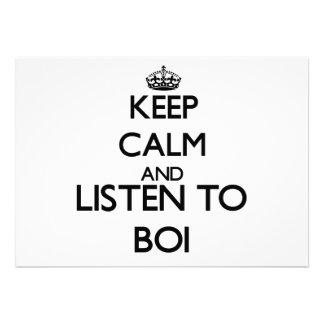 Guarde la calma y escuche BOI