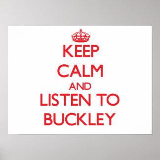 Guarde la calma y escuche Buckley