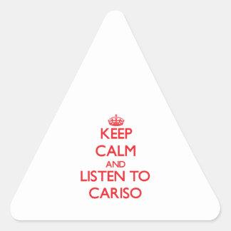Guarde la calma y escuche CARISO