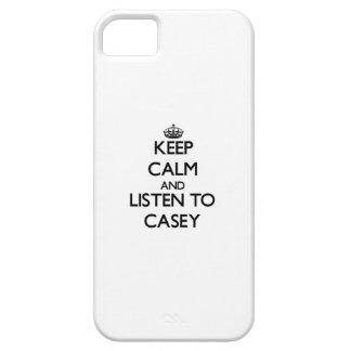 Guarde la calma y escuche Casey iPhone 5 Cárcasa