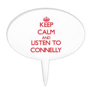 Guarde la calma y escuche Connelly Decoraciones Para Tartas