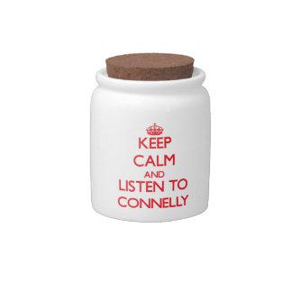 Guarde la calma y escuche Connelly Platos Para Caramelos