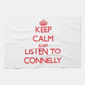 Guarde la calma y escuche Connelly Toallas De Cocina