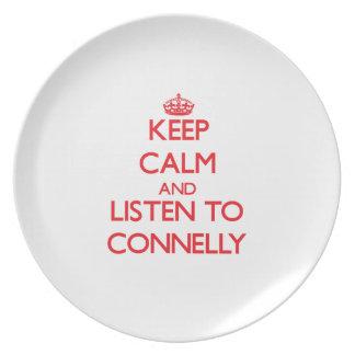 Guarde la calma y escuche Connelly Platos