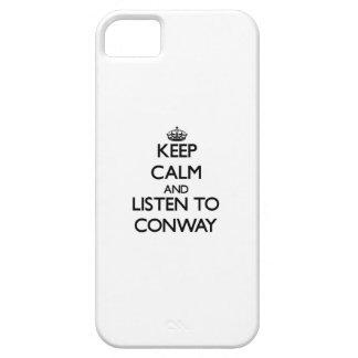 Guarde la calma y escuche Conway iPhone 5 Case-Mate Funda