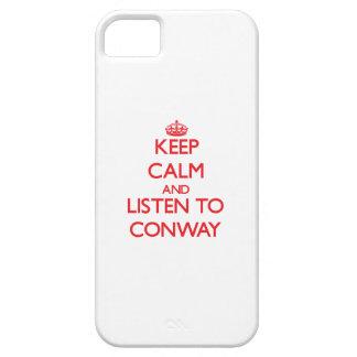 Guarde la calma y escuche Conway iPhone 5 Case-Mate Cárcasa