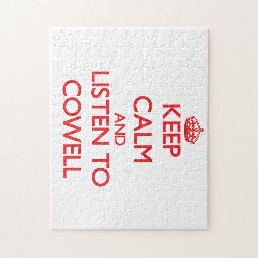 Guarde la calma y escuche Cowell Rompecabezas Con Fotos