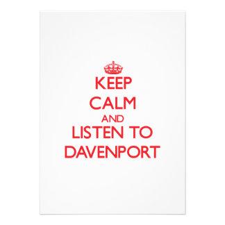Guarde la calma y escuche Davenport