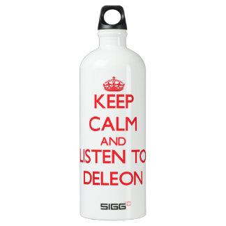 Guarde la calma y escuche Deleon