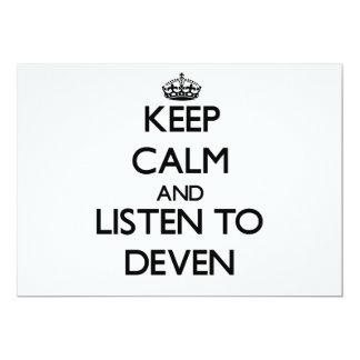Guarde la calma y escuche Deven Comunicado Personal