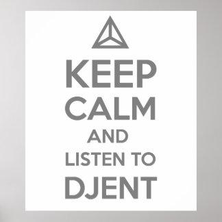 guarde la calma y escuche DJENT Póster