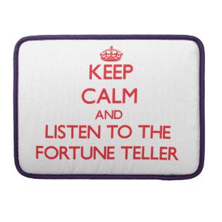 Guarde la calma y escuche el adivino fundas para macbook pro