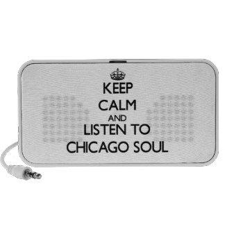 Guarde la calma y escuche el ALMA de CHICAGO Altavoz De Viajar