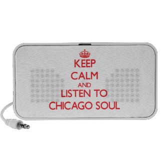 Guarde la calma y escuche el ALMA de CHICAGO Laptop Altavoz