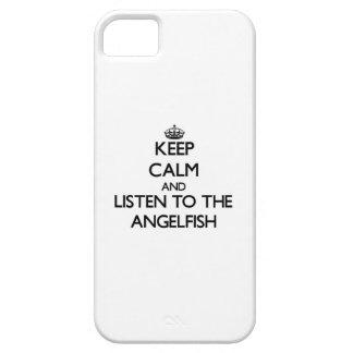 Guarde la calma y escuche el Angelfish iPhone 5 Funda
