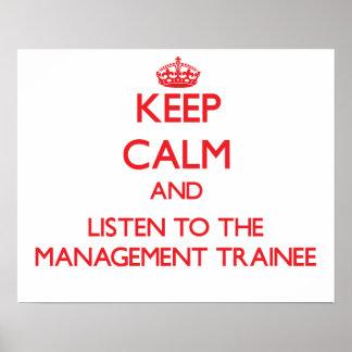 Guarde la calma y escuche el aprendiz de la gestió impresiones