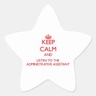 Guarde la calma y escuche el Assista administrativ Colcomanias Forma De Estrellaes Personalizadas