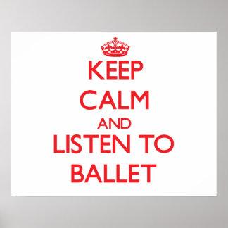 Guarde la calma y escuche el BALLET Impresiones