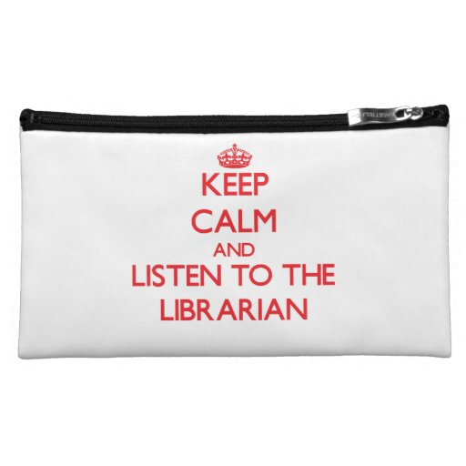 Guarde la calma y escuche el bibliotecario