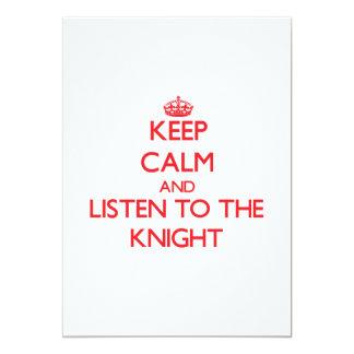 Guarde la calma y escuche el caballero comunicado