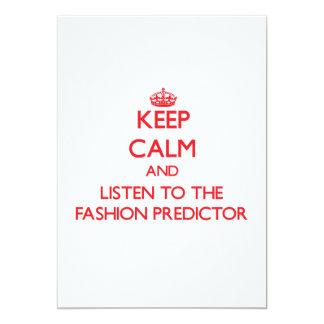 Guarde la calma y escuche el calculador de la moda comunicados personales