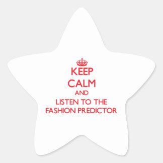 Guarde la calma y escuche el calculador de la moda calcomanías forma de estrella personalizadas