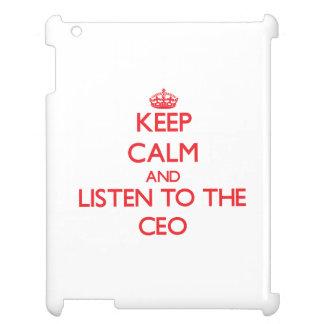 Guarde la calma y escuche el CEO