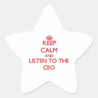 Guarde la calma y escuche el CEO Colcomanias Forma De Estrellas