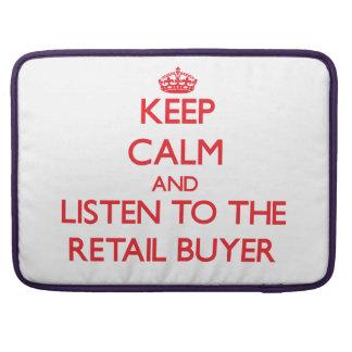 Guarde la calma y escuche el comprador al por meno funda para macbook pro