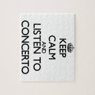 Guarde la calma y escuche el CONCIERTO Rompecabezas Con Fotos