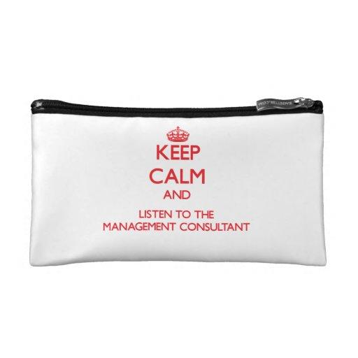 Guarde la calma y escuche el consultor en administ