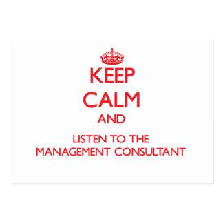 Guarde la calma y escuche el consultor en administ tarjeta de negocio