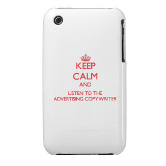 Guarde la calma y escuche el Copywriter de la publ iPhone 3 Carcasa
