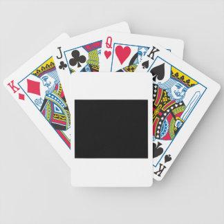 Guarde la calma y escuche el diseñador del bordado baraja cartas de poker