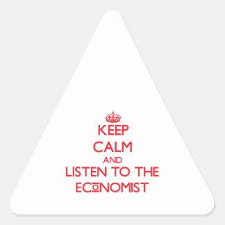 Guarde la calma y escuche el economista colcomanias trianguladas personalizadas