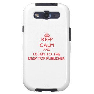 Guarde la calma y escuche el editor de escritorio galaxy s3 protectores